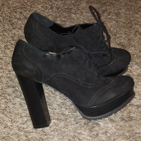 Report Shoes - Laced Heeled Booties